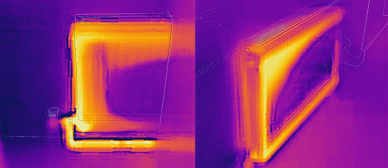 Thermal image of heating system